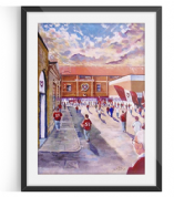tynecastle going to the match print